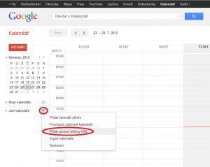 Jak přidat kalednář do gKalendáře